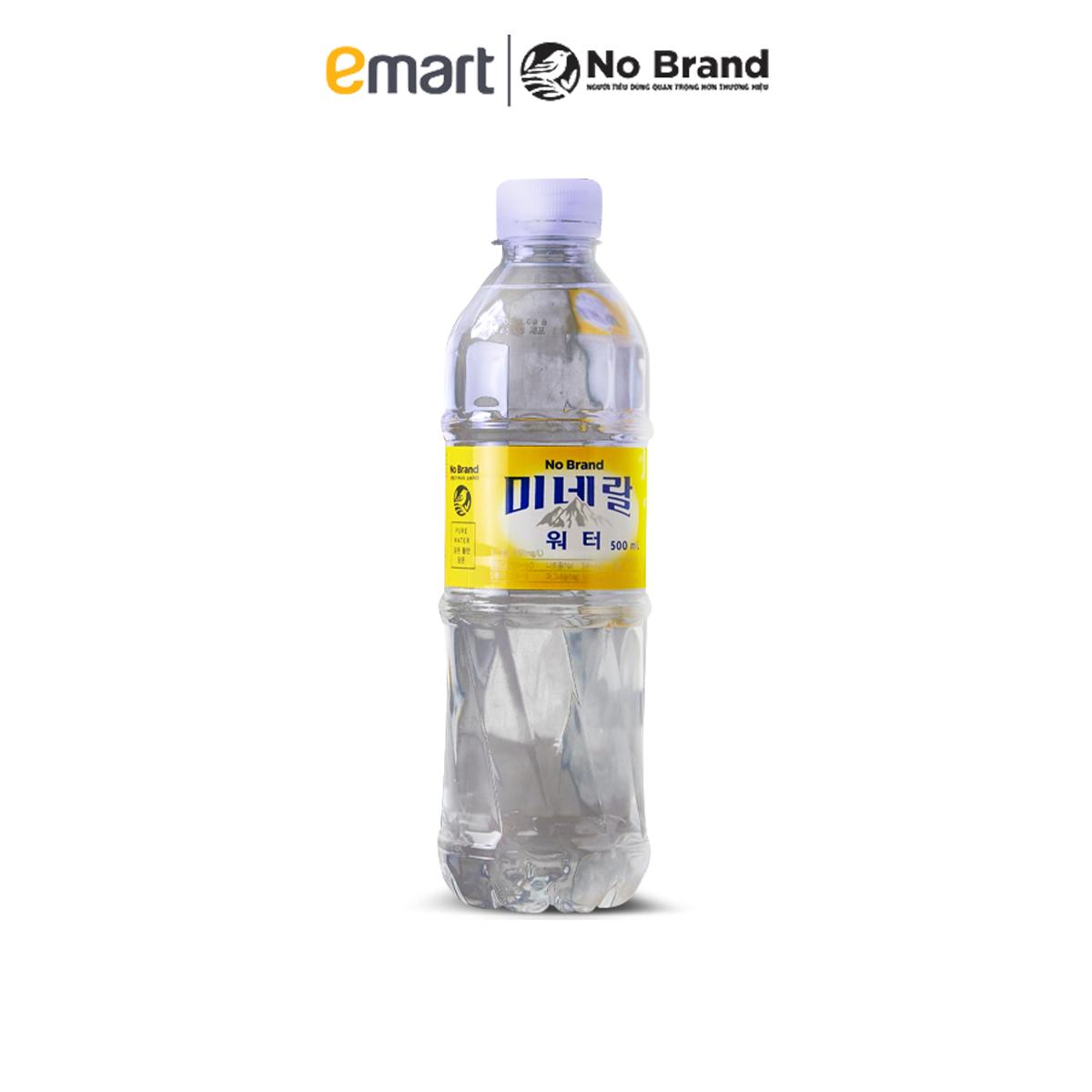 Nước Khoáng Thiên Nhiên No Brand Chai 500ml – Emart VN