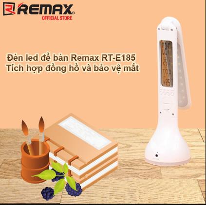 Đèn Bàn LED REMAX RT-E185 Chống Cận 3 Chế Độ Sáng – Hiển Thị Ngày, Giờ, Nhiệt Độ Và Có Báo Thức