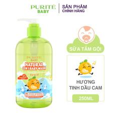 [Giá tốt] Dầu Gội Purite Baby Hạnh Nhân Natural Shampoo Almond Oil 250ml