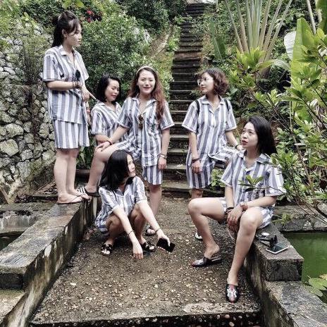 Linhxinhluxury1988 Bộ Tù Kẻ Sọc – quần áo phạm nhân bộ đi biển mùa hè kèm ảnh thật