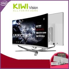 Bộ máy tính để bàn All in One Kiwivision – Tất cả trong 1 màn hình cong 24 full view, CPU Intel Pentium G-2020 ( 2.9 Ghz, 3MB, x2) , Ram 4GB DDR3 1600Mhz, SSD : 250G, Chipset H81 – Bộ Kiwivision Office 24H6155 Plus