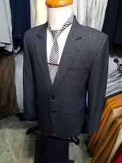 Bộ vest nam 2 nút form suông màu xám đậm chất liệu vải nhập dày mịn + cà vạt kẹp