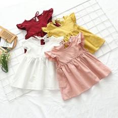 Váy Đũi hàn 2 dây sành điệu cho bé gái QATE618
