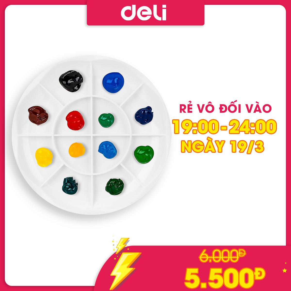 Khay pha màu Deli – 12 ngăn – 1 chiếc – 68305