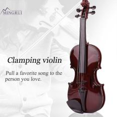 Mingrui Black 39CM ABS Kids Violin Studnets Acoustic Violin Children'S Violin