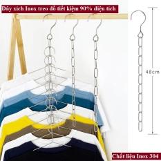 Dây phơi đồ móc treo quần áo – Dây xích inox treo quần áo – Tiết kiệm 90% diện tích