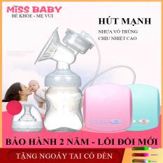 Máy hút sữa điện đơn Miss baby (có chế độ massa hút êm ái như em bé bú), Thiết Kế Thông Minh Tiện Dụng, Tháo Lắp Đơn Giản, Có 9 Mức Điều Chỉnh Dễ Dàng Sử Dụng- LỖI ĐỔI MỚI 1-1