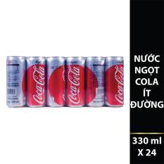 Nước ngọt có ga Coca-Cola Light ít đường thùng 24 lon 330ml