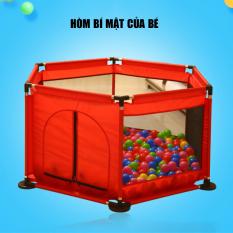 Lều bóng- Cũi bóng- Nhà bóng khung thép không rỉ (Tặng kèm bóng) thích hợp cho bé từ 6 tháng tuổi. Giúp Bé chơi đuà thoải mái