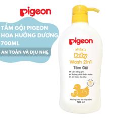 Tắm gội dịu nhẹ Pigeon 700ml Hoa Hướng Dương