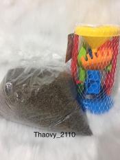 Combo đồ chơi xúc cát hạt muồng cho bé chơi