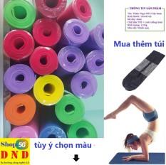 Thảm Yoga – Thảm lót tập thể dục dài 1,85M rộng 0,61M dày 5mm. Thảm dẻo, đàn hồi tốt, có thể sử dụng lâu dài.