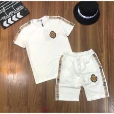 Đồ bộ thể thao nam LOGO BT, chất liệu thun lạnh 4 chiều, phong cách thể thao, 2 màu trắng đen, full size M L XL XXL từ 35-90kg
