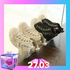 Giày cao cổ boot kéo khóa cho trẻ em bé trai bé gái hàng đẹp êm chân