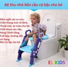 Ghế ngồi bồn cầu cho bé có đệm và thang vịn, Ghế bô cho bé