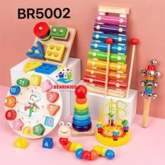 Combo 7 Món Đồ Chơi Gỗ Thông Minh Benrikids Cho Bé Từ 0 Đến 6 Tuổi, Đồ Chơi Sản Xuất Theo Phương Pháp Montessori, Đồ Chơi An Toàn Cho Trẻ