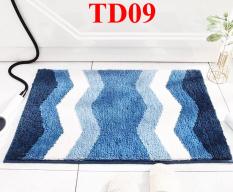 Thảm lông 3D lau chân cửa TD01 thảm nhà tắm, phòng ngủ lông dày dài siêu thấm mềm mại chống trượt in hình 3D sắc nét