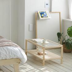 [Freeship] Bàn trà Rect 2 tầng IBIE 80cm gỗ thông phong cách Bắc Âu Scandinavian theo lối sống tối giản, kích thước, màu sắc tùy chọn. Gia công tỉ mỉ, chất lượng xuất khẩu. Bảo hành 12 tháng, miễn phí vận chuyển TPHCM