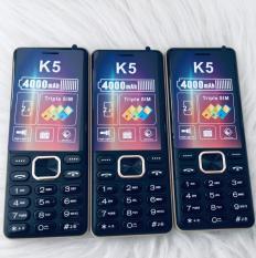 Điện thoại NOKIA K5 3 sim pin khủng giá rẻ -Fm không cần tai nghe – bàn phím to – đèn pin sáng -quà cho người già