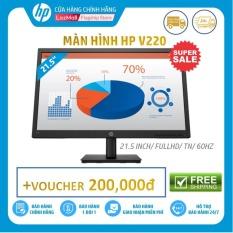 [Voucher 200k]-Màn hình HP V220 (21.5 Inch/FULLHD/60HZ/5Ms/TN with LED backlight/Jack black-4CJ27AA) – Hàng Chính Hãng