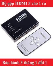 Bộ gộp HDMI 5 cổng vào – 1 cổng ra có điều kiển (Đen) ( 5 thiết bị dùng 1 màn hình)