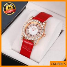 Đồng hồ nữ, Đồng hồ thời trang, Đồng hồ Geneva viền đá , Dây da, Sang trọng, Siêu đẹp, Nhiều màu – BẢO HÀNH 12 THÁNG