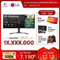 Màn hình máy tính LG Curved VA Gaming UltraWide™ (3440×1440) 100Hz 5ms 35 inches l 35WN75C-B l HÀNG CHÍNH HÃNG