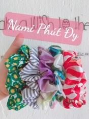 Cột tóc vải Scrunchies nhiều màu