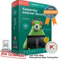 Phần mềm Kaspersky Internet Security KIS 5PC box phân phối bởi Nam Trường Sơn, gói siêu tiết kiệm, bảo mật cao cấp cho 5 máy tính hoặc mobile (Màu xanh lá đỏ – Green and Red)