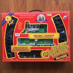 Bộ đồ chơi tầu hỏa phun khói chạy trên ray – YY015