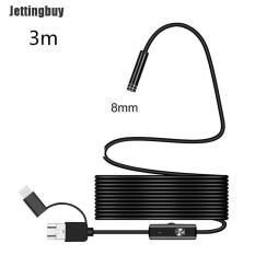 Jettingbuy Kính Soi Kiểm Tra Nội Soi 3 Trong 1 USB Type-C Camera HD Ống Kính 5.5/7/8Mm IP68