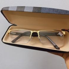 ( Thanh lý) KÍNH LÃO THỊ kính viễn thị trung niên TITANIUM Hàng ITALYYAA Cao cấp nửa viền THỂ THAO có hộp và khăn màu GOLD doanh nhân cao cấp số lượng có hạn
