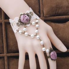 Vòng tay choker 2 bông hồng ruốc nữ tính cho nàng