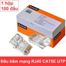 Đầu bấm cáp mạng CAT5E RJ45 – Hạt mạng CAT5E UTP TENDA TD-1013C – 1 hộp 100 đầu