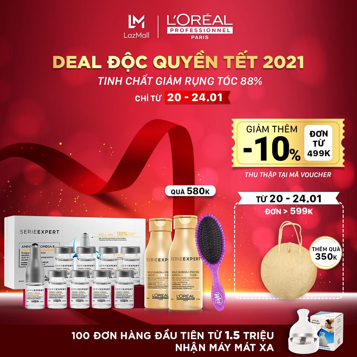 Tinh chất giảm rụng tóc L'Oreal Professionnel Aminexil Advanced L'Oréal 10x6ml