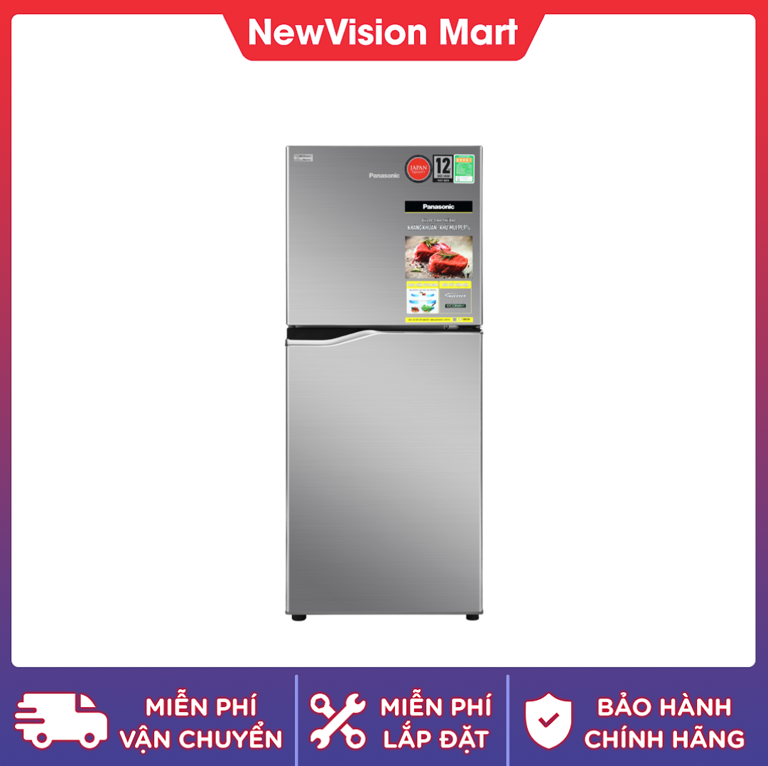 [Trả góp 0%]Tủ lạnh Panasonic Inverter 170 lít NR-BA190PPVN