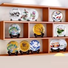 20CM Nhà Phòng Khách Trung Quốc Đĩa Sứ Đồ Trang Trí Thủ Công Mỹ Nghệ Tủ Rượu Sáng Tạo Cho Văn Phòng Trang Trí Nhỏ