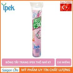 Bông tẩy trang IPEK 150 miếng Thổ Nhĩ Kì giúp tẩy trang và làm sạch da không gây kích ứng thấm hút nhanh chóng