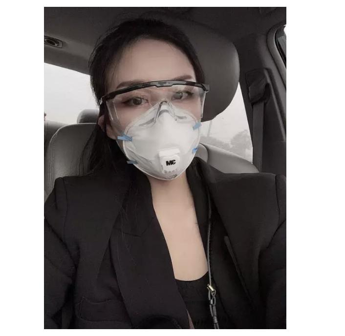 (Kính đeo kèm với khầu trang) Mắt kính bảo vệ sức khỏe mùa dịch, phòng tránh virus Corona dùng cho cả nam và nữ