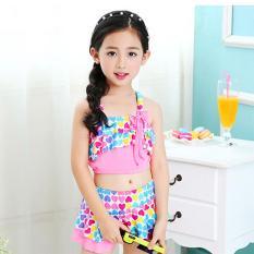 [Tặng kèm nón bơi đồng bộ] Đồ bơi 2 mảnh xinh yêu cho bé gái 4-10 tuổi BBShine – DB002