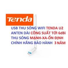 USB WIFI TENDA U2 – TENDA W311MA [CHÍNH HÃNG BẢO HÀNH 3 NĂM] USB THU SÓNG WIFI ANTEN DÀI 6dBi THU SÓNG MẠNH XA ỔN ĐỊNH