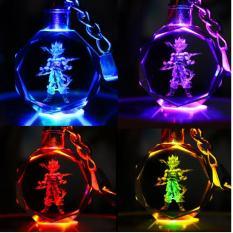 Hot Hot Bộ móc khóa pha lê có đèn LED in hình các nhân vật 7 viên ngọc rồng tuyệt đẹp ( đc chọn nhân vật )