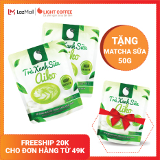 [TẶNG 1 GÓI CÙNG LOẠI] Combo 2 gói Bột trà xanh sữa Aiko thơm ngon, đặc biệt sử dụng matcha chính hãng Nhật Bản, không hương liệu , gói 50g