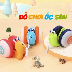 Đồ chơi trẻ em ốc sên phát sáng phát nhạc vui nhộn dễ thương có thể dắt đi dạo đi chơi, đồ chơi ốc sên,ốc sên đi dạo