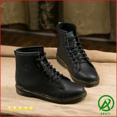Giày Boot Nam Cao Cổ Màu Đen M89