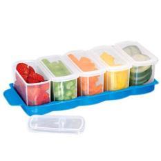 Bộ 5 hộp đựng thực phẩm để trong tủ lạnh Tashuan TS3179