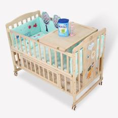 [ XẢ KHO0] Cũi kéo dài thành giường, Cũi trẻ em, Cũi cho bé, Cũi kèm đệm sơ dừa cao cấp, quây cũi gỗ cho bé, cũi giường cho bé, nôi cũi gỗ cho bé MANIC 100