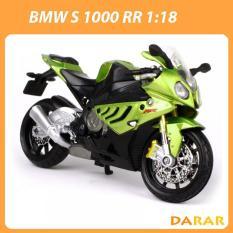 XE MÔ HÌNH – MOTO Siêu xe BMW S 1000 RR – MAISTO tỷ lệ 1:18