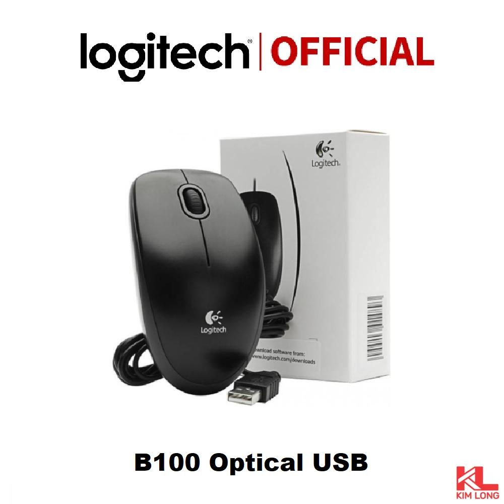 Chuột Logitech B100 có dây (Đen)