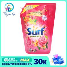 Túi nước giặt Surf túi 3.5kg/3.1kg cỏ hoa diệu kỳ bọt dẫn hương bung tỏa thơm ngát dài lâu